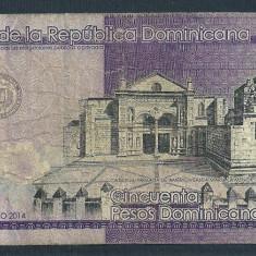 REPUBLICA DOMINICANA 50 PESOS DOMINICANOS 2014 [3] P-189 - bancnota america