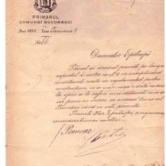 DOCUMENTE-INSCRISURI VECHI-1886-PRIMARUL COMUNEI BUCURESTI-DOMNILOR EPITROPI - Harta
