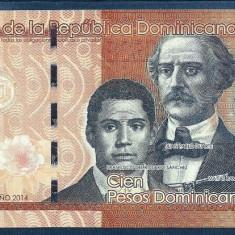 REPUBLICA DOMINICANA 100 PESOS DOMINICANOS 2014, XF+++ a UNC [2] P-190 - bancnota america