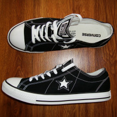 Tenesi/Tenisi barbatesti Converse One Star Originali-Marimea 44, 5-Import U.S.A - Tenisi barbati Converse One Star, Culoare: Negru, Textil