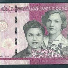 REPUBLICA DOMINICANA 200 PESOS DOMINICANOS 2014 UNC [1] P-191, necirculata - bancnota america