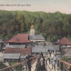 NEAMT, SCHITUL SIHASTRIA-SECU PRIVIT DIN SPRE SIHLA, CIRCULATA JUN.*913 - Carte Postala Moldova 1904-1918, Tip: Printata, Oras: Targu Neamt