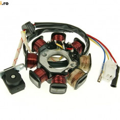 MAGNETOU SCUTER CHINEZESC 4T GY6 50cc 8 bobine stator aprindere