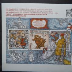 2004 Romania LP - 1659 Evenimente, bloc. - Timbre Romania, Nestampilat