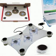 Suport cu racire pentru Laptop - Notebook Cooling Pad cu 3 coolere