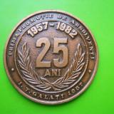 HOPCT ROMANIA MEDALIE VECHE GALATI 25 ANI PRIMA PROMOTIE INSTITUTUL TEHNIC 1982 - Medalii Romania