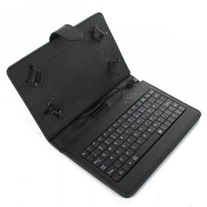 Husa Tableta 9 Inch Cu Tastatura Micro Usb Model X , Negru , Tip Mapa C13