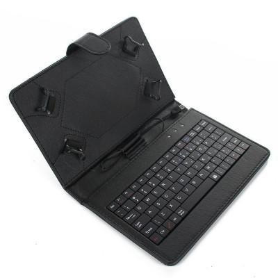 Husa Tableta 9 Inch Cu Tastatura Micro Usb Model X , Negru , Tip Mapa C13 foto