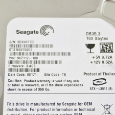 HDD IDE 160Gb Seagate ST3160215ACE - Hard Disk Seagate, 100-199 GB, Rotatii: 7200