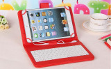 Husa Tableta 9 Inch Cu Tastatura Micro Usb Model X , Rosu , Tip Mapa  C14