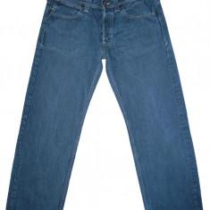 Blugi EVISU - (MARIME: 36 x 32) - Talie = 94 CM, Lungime = 106 CM - Blugi barbati, Culoare: Albastru, Prespalat, Largi, Normal