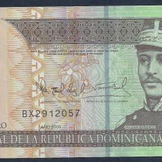 REPUBLICA DOMINICANA 20 PESOS DOMINICANOS 2009 [2] P-182, polimer, VF+ - bancnota america