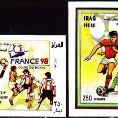 IRAQ 1998 FOTBAL CUPA MONDIALA - Timbre straine, Nestampilat