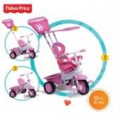 Tricicleta 3 in 1 Elite Roz - Tricicleta copii
