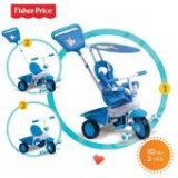 Tricicleta 3 in 1 Elite Albastra - Tricicleta copii