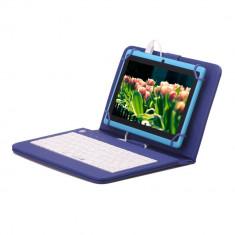 Husa Tableta 8 Inch Cu Tastatura Micro Usb Model X , Albastru , Tip Mapa C8