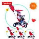 Tricicleta 3 in 1 Charisma Rosu - Tricicleta copii