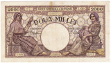 5) Bancnota 2000 lei 18 noiembrie 1941 filigran Traian