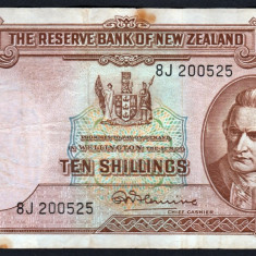 Noua Zeelanda 10 shillings serie 8J 200525 1940-67 P#158