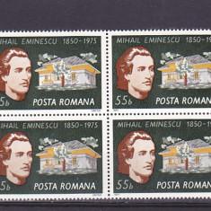 Romania Eminescu bloc de 4, nr lista 880. - Timbre Romania, Nestampilat