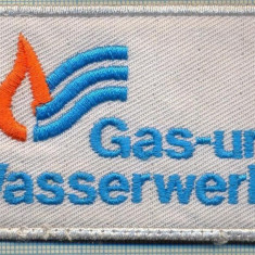 234 -EMBLEMA - GAS-UND WASSERWERKE -GERMANIA - GAZE NATURALE-starea care se vede