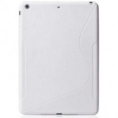 Husa silicon TPU S-Line Apple iPad Air Wi-Fi A1474 Alba - Husa Tableta
