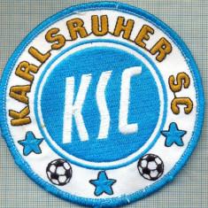 257 -EMBLEMA SPORTIVA -FOTBAL -KSC -KARLSRUHER SC -GERMANIA -starea care se vede