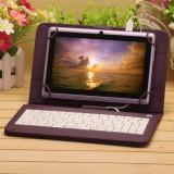 Husa Tableta 9 Inch Cu Tastatura Micro Usb Model X , Mov , Tip Mapa C16