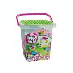 Set constructie Unico Plus Hello Kitty Galetusa cu placa de montat 104 piese - Jocuri Seturi constructie