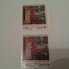 Franta 1994 crucea rosie serie mnh - Timbre straine, Nestampilat