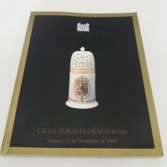 CATALOG LICITAȚIE CASTELLANA SUBASTAS*PORȚELAN, CRISTAL, SCLUPTURI/ DEC. 1998