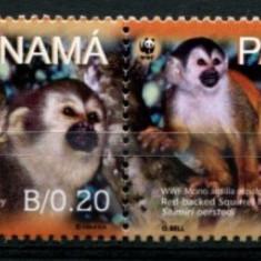 PANAMA 2007 WWF SPECII PROTEJATE MAIMUTE - Timbre straine, Nestampilat