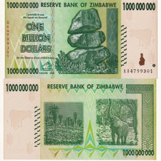 ZIMBABWE 1.000.000.000 dollars 2008 UNC!!! - bancnota africa