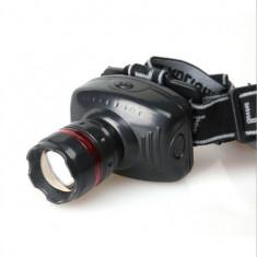 Lanterna Frontala pt Cap LED cu Zoom Reglabil/Flash, Acumulator C27