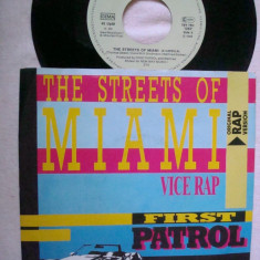 First Patrol - The Streets Of Miami (1986, ZYX) Disc vinil single 7