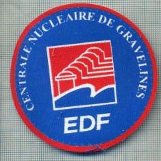 235 -EMBLEMA -EDF -CENTRALE NUCLEAIRE DE GRAVELINES -FRANTA -starea care se vede