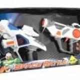 Set 2 pistoale spatiale cu sunete si lumini - Pistol de jucarie