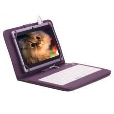 Husa Tableta 8 Inch Cu Tastatura Micro Usb Model X , Mov , Tip Mapa  C9