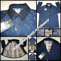 GEACA OFFICE 3XL BLEUMARIN BARBATI FIRMA BURBERRY MATLASATA GULER REIAT NEW - Geaca XXXL