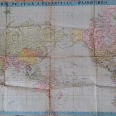 HARTA POLITICA A PAMANTULUI - PLANISFERA - INSTITUTUL CARTOGRAFIC UNIREA BRASOV