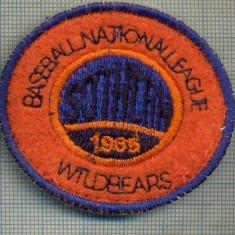 275 -EMBLEMA - BASEBALL NATIONAL LEAGUE  WILDBEARS  -starea care se vede