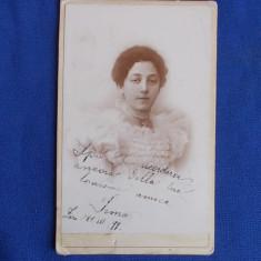 FOTOGRAFIE VECHE PE SUPORT DE CARTON - DATATA  21 III 1899