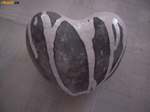 Inima ceramica decorativa mare 12X12 cm