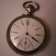 CEAS VECHI DE BUZUNAR -SWISS MADE-ANCRE SPIRAL BREGUET-2 PLATEAUX-ARGINT-0, 800. - Ceas de buzunar vechi