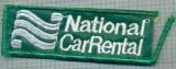 282 -EMBLEMA AUTOMOBILISTICA -NATIONAL CAR RENTAL-INCHIRIERI-starea care se vede