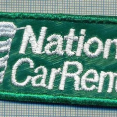 282 -EMBLEMA AUTOMOBILISTICA -NATIONAL CAR RENTAL-INCHIRIERI-starea care se vede - Uniforma militara