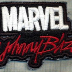 268 -EMBLEMA -MARVEL BY JOHNNY BLAZE -EROU DE BENZI DESENATE-starea care se vede