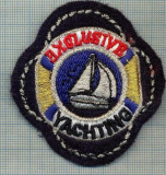 274 -EMBLEMA - EXCLUSIVE - YACHTING -starea care se vede