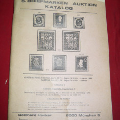 Catalog Licitatie Filatelice - Gotthard, 55 pag. si fotografii 1979