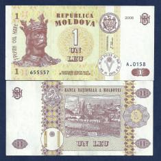 MOLDOVA 1 LEU 2006 [0] P-8g, a UNC - bancnota europa